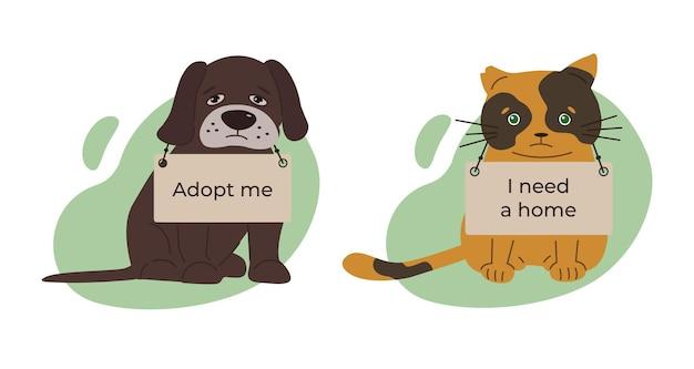 International day of homeless animals vector illustration on the theme of homeless animals