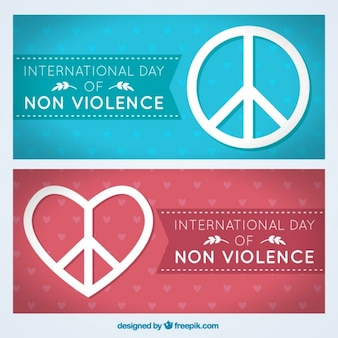International day of non violence banners