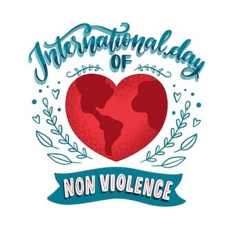 Giornata internazionale della non violenza lettering design
