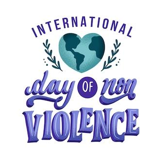 Tema dell'iscrizione della giornata internazionale della non violenza