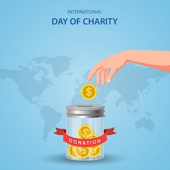 Концепция международного дня благотворительности.