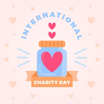 Международный день благотворительности в плоском дизайне Бесплатные векторы