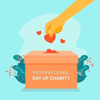 フラットデザインの国際慈善の日