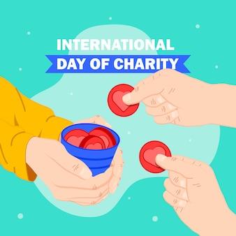 心とコインで国際慈善の日
