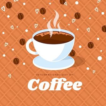 Международный день кофе иллюстрации