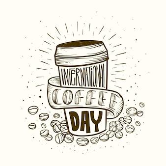 Международный день кофейной надписи
