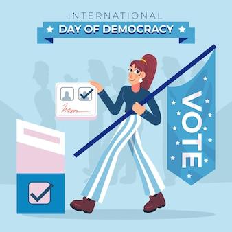 国際民主主義の日コンセプト