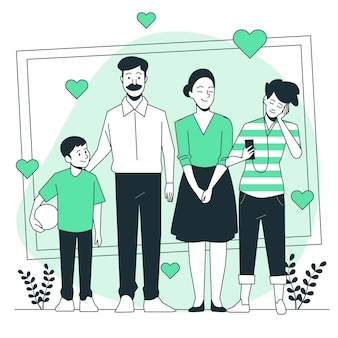 국제 가족 개념 그림의 날