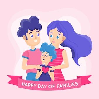 평면 디자인의 국제 가족의 날