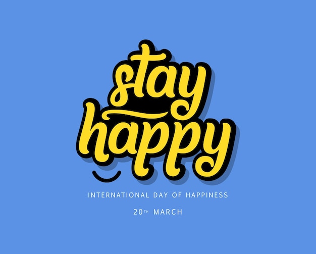 국제 행복 디자인 템플릿의 날. 프리미엄 벡터