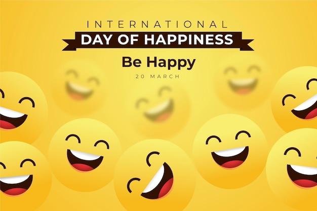 Международный день счастья иллюстрации