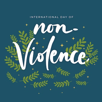 Международный день ненасилия надписи