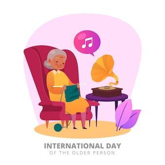 国際高齢者の日コンセプト