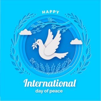 国際平和デーの背景に紙のスタイル