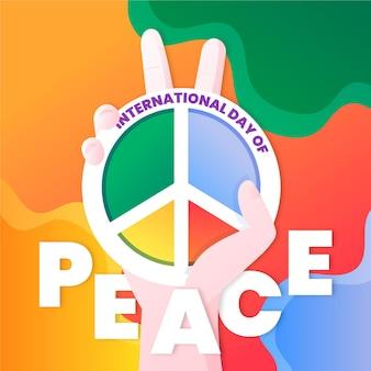 国際平和デーのカラフルなテーマ