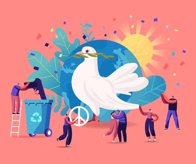 국제 평화의 날 일러스트레이션
