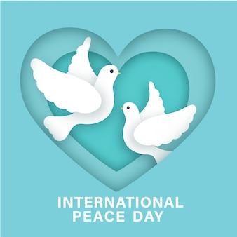 Международный день мира в стиле вырезки из бумаги.