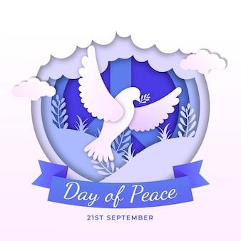 Международный день мира в бумажном стиле
