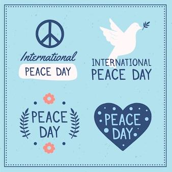 国際平和デーのラベルを描く