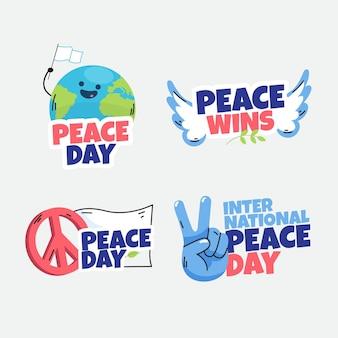 国際平和デーのラベルのテーマ
