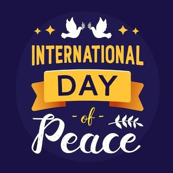 Международный день мира надписи