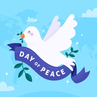 かわいい鳩との国際平和デー