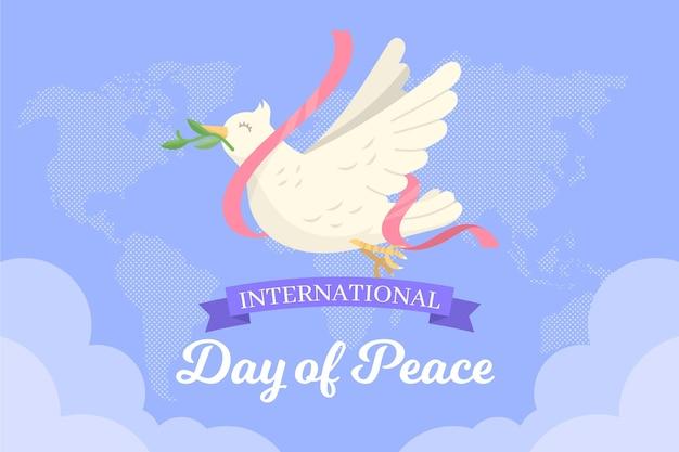 Международный день мира с голубем