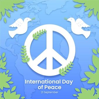 ピースサインのある国際平和デー