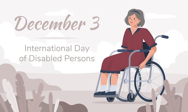 Международный день людей с ограниченными возможностями, 3 декабря. Premium векторы