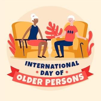 Международный день пожилых людей нарисован