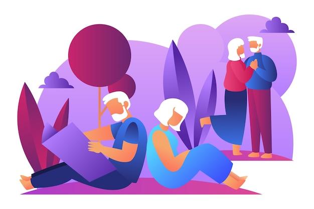 Международный день пожилых людей иллюстрации
