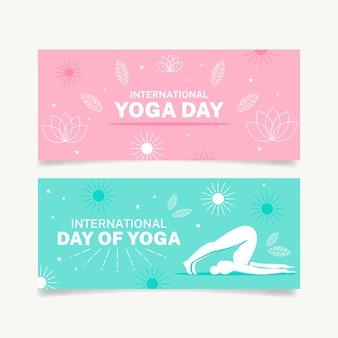 Международный день коллекции баннеров йоги