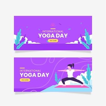 Международный день йоги, баннер