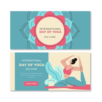 Международный день дизайна баннеров йоги