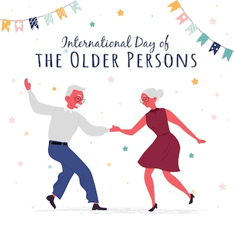 International day of the older persons illustration