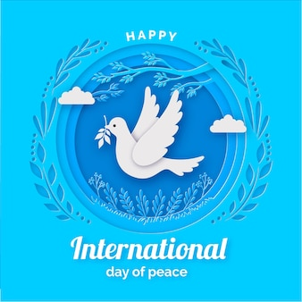 International day of peace background in paper style