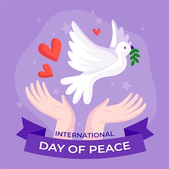 International day of peace hand-drawn