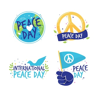 International day of peace labels design