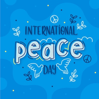 International day of peace lettering