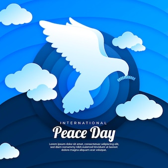 International day of peace paper style