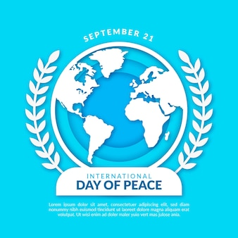 International day of peace in paper style Free Vector