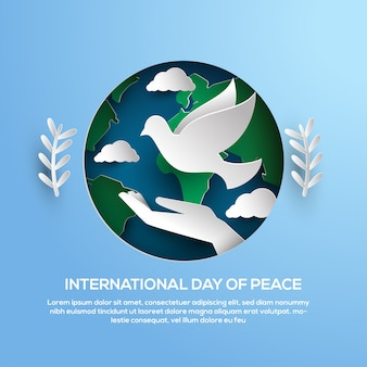 International day of peace papercut greeting card