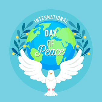 International day of peace with dove and earth