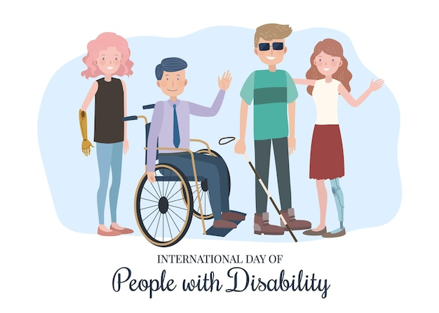 International day of people with disability event illustrated