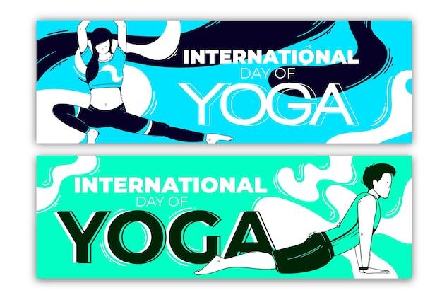 Giornata internazionale della progettazione di banner yoga