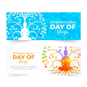 International day of yoga banners theme