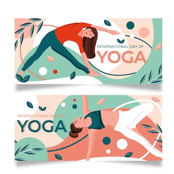International day of yoga body balance banner