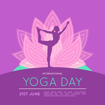 International day of yoga concept