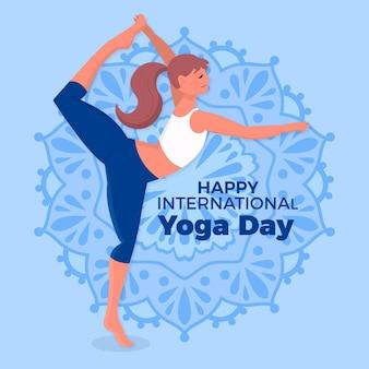 International day of yoga drawing