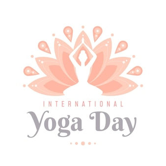 International day of yoga flat design